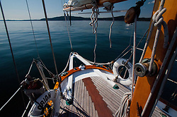 Aboard Orion at Jones Island State Park, San Juan Islands, Washington, US