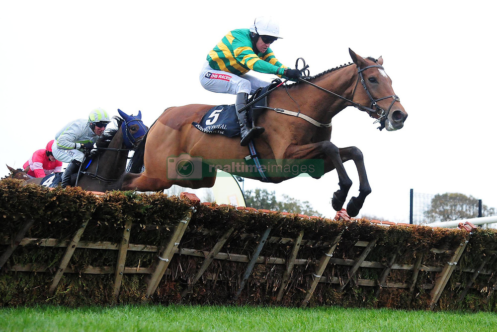 Sancta Simona ridden by Barry Geraghty go on to win the Lough Construction Ltd. Irish EBF Mares Novice Hurdle during day one of the Down Royal Festival.