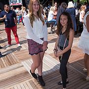 NLD/Amsterdam/20130713 - AFW 2013 Zomer, modeshow Supertrash Girls, Diana Janssen en vriendin Nora