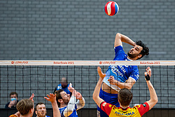 Hossein Ghanbari of Lycurgusin action during the cupfinal between Amysoft  Lycurgus vs. Draisma Dynamo on April 18, 2021 in sports hall Alfa College in Groningen