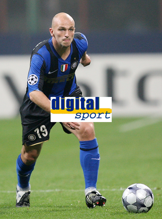Fotball<br /> Italia<br /> Foto: Inside/Digitalsport<br /> NORWAY ONLY<br /> <br /> Esteban Cambiasso (Inter)<br /> <br /> 22.10.2008<br /> Champions League 2008/2009<br /> Inter v Anorthosis Famagusta (1-0)