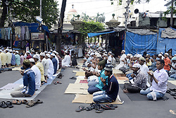 June 2, 2017 - Kolkata, West Bengal, India - Muslim men offer the first Friday namaz or prayers of the holy month of Ramadan outside the Tipu Sultan Mosque in Kolkata. (Credit Image: © Saikat Paul/Pacific Press via ZUMA Wire)