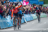 Greg Van Avermaet of CCC Pro Team wins stage 4 in Leeds during stage four of the Tour de Yorkshire from Halifax to Leeds, , United Kingdom on 4 May 2019.