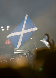 Saltire flag in the crowd as The Editors play the main stage. Rockness, Sunday 8th June 2008..Pic © Michael Schofield. All Rights Reserved.