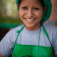 Xiomara Saavedra Riofrio, banana worker at Fairtrade-certified coop BOS in Salitral, Piura, Peru