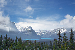 The Canadian Rockies at Hector Lake in  Banff National Park