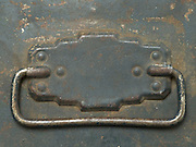 handle on old metal lunch box