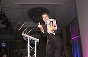 Host, Tony Hawks. The British Book Awards. Hilton, London. 22 February 2001. © Copyright Photograph by Dafydd Jones 66 Stockwell Park Rd. London SW9 0DA Tel 020 7733 0108 www.dafjones.com