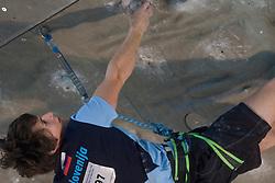Climber Izidor Zupan (SLO) at World cup competition in Zlato polje, Kranj, Slovenia, on November 15, 2008.  (Photo by Vid Ponikvar / Sportida)