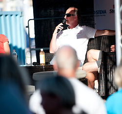 Holmberg at the press conference -  Stena Match Cup Sweden 2010, Marstrand-Sweden. World Match Racing Tour. photo: Loris von Siebenthal - myimage