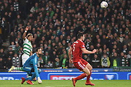 A missed chance for Scott Sinclair during the Betfred Cup Final between Celtic and Aberdeen at Hampden Park, Glasgow, United Kingdom on 2 December 2018.