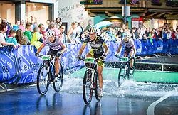 03.08.2012, Kaprun, AUT, Bike Infection, XC BATTLE Damen, im Bild Nathalie Schneitter (SUI) und Lisa Mitterbauer (AUT). EXPA Pictures © 2012, PhotoCredit: EXPA/ Juergen Feichter