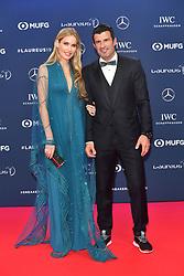 February 18, 2019 - Monaco, Monaco - Luis Figo and Helene Svedin arriving at the 2019 Laureus World Sports Awards on February 18, 2019 in Monaco  (Credit Image: © Famous/Ace Pictures via ZUMA Press)