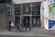 Vintage retro second hand clothing shop, Spitalfields. London