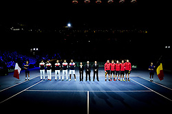 November 24, 2017 - Lille, France, France - Protocole - equipes de France et de Belgique (Credit Image: © Panoramic via ZUMA Press)