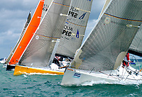 """PPL Photo Agency Copyright Reserved<br /> <br /> 1-08-2006 Skandia, Cowes Week<br /> <br /> """"HYS/AQUA SPEC"""", Bicket & Griffith, Farr 45<br /> <br /> Photo Credit: Michael Cwford-Hick<br /> <br /> Tel: +44 (0) 1243 555561 Email: ppl@mistral.co.uk, Web: www.pplmedia.com"""