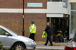 © Licensed to London News Pictures. 06/06/2020. London, UK. The crime scene on Brackenfield Close, Hackney in East London as police launch an investigation following a fatal shooting. Police were called at 11.30 pm on Friday 5 June, to reports of shots fired in Brackenfield Close and found a man in his twenties suffering gunshot injuries. Despite the efforts of medics and officers, the man was pronounced dead at the scene. Photo credit: Dinendra Haria/LNP