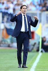 October 7, 2018 - Rome, Italy - SS Lazio v ACF Fiorentina - Serie A .Simone Inzaghi trainer of Lazio at Olimpico Stadium in Rome, Italy on October 7, 2018. (Credit Image: © Matteo Ciambelli/NurPhoto/ZUMA Press)