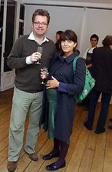 CLAUDIA WINKLEMAN and CHARLES PHILLIPS at an exhibition of artist Jonathan Yeo's portrait paintings held at Eleven, 11 Eccleston Street, London SW1 on 16th February 2006.<br /><br />NON EXCLUSIVE - WORLD RIGHTS