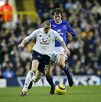 DEAN MARNEY HOLDS OF KEVIN KILBANE-BARCLAYS PREMIERSHIP SATURDAY 01 Jan 2005-Tottenham v Everton-COLORSPORT/KIERAN GALVIN