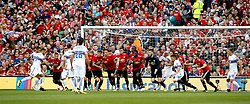 Samporia's Fabio Quagliarella takes a close range indirect free kick as Manchester United goalkeeper David de Gea joins the wall - Mandatory by-line: Matt McNulty/JMP - 02/08/2017 - FOOTBALL - Aviva Stadium - Dublin,  - Manchester United v Sampdoria - Pre-Season friendly