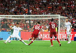 Casemiro of Real Madrid vs Trent Alexander-Arnold of Liverpool during the UEFA Champions League final football match between Liverpool and Real Madrid at the Olympic Stadium in Kiev, Ukraine on May 26, 2018.Photo by Sandi Fiser / Sportida