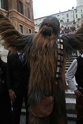 May 4, 2019 - Rome, Italy, Italy - Italian Star Wars fans celebrating the ''Star Wars Day'' in Spanish Square Stairs in Rome (Credit Image: © Paolo Pizzi/Pacific Press via ZUMA Wire)
