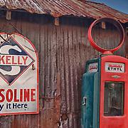 Skelly Gasoline Sign And Sinclair Ethyl Gasoline Pump - Eldorado Canyon - Nelson NV - HDR