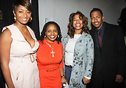 l to r: Toccara, Olivia Scott-Perkins, Danyell Smith and Nick Cannon at The Vibe Magazine Presents Vsessions Live! Hosted by the Fabulous Toccara featuring Hal Linton, Suai and Ron Browz held at Joe's Pub on February 25, 2009 in NYC