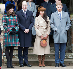Meghan Markle joins The Royal Family as they attend Church on Christmas Day at St Mary Magdalene, Sandringham, Norfolk, UK, on the 24th December 2017. 25 Dec 2017 Pictured: Catherine, Duchess of Cambridge, Kate Middleton, Prince William, Duke of Cambridge, Meghan Markle, Prince Harry. Photo credit: MEGA TheMegaAgency.com +1 888 505 6342