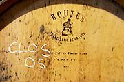 Domaine des Grecaux in St Jean de Fos. Montpeyroux. Languedoc. Barrel cellar. France. Europe. Boutes tonnellerie cooperage.