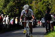 France, October 10 2010: AG2R LA MONDIALE (ALM)'s Sébastien HINAULT on the Côte de l'Epan during the 2010 Paris Tours cycle race.  Copyright 2010 Peter Horrell