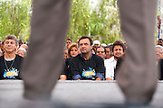 Belo Horizonte_MG, Brasil...Governador de Minas Gerais, Aecio Neves (PMDB), participa da cerimonia do lancamento do projeto Vozes do Morro na Barragem Santa Lucia...Aecio Neves (PMDB), governor of Minas Gerais, he is participating in the ceremony Vozes do Morro project in Barragem Santa Lucia...Foto: LEO DRUMOND / NITRO