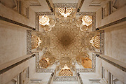 Interior of the hexagonal conical dome of the Sheikh's tomb. Sheikh Abd as-Samad Mosque. Natanz, Iran, 2008