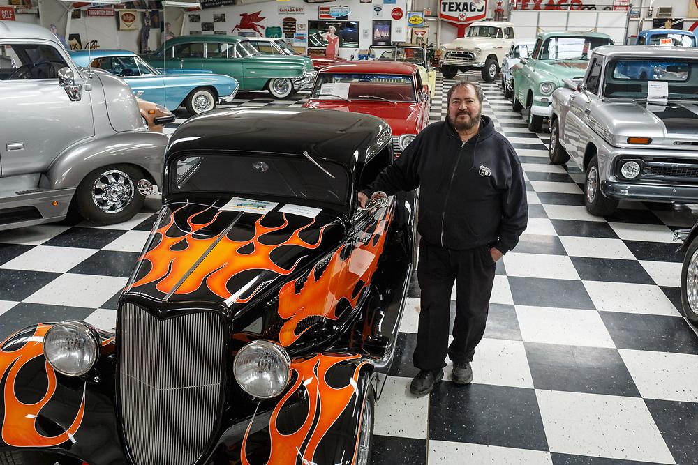 """James """"Bozo"""" Cordova, proprietor of Bozo's Garage and the Route 66 Auto Museum. - Steven St. John for New Mexico Magazine"""