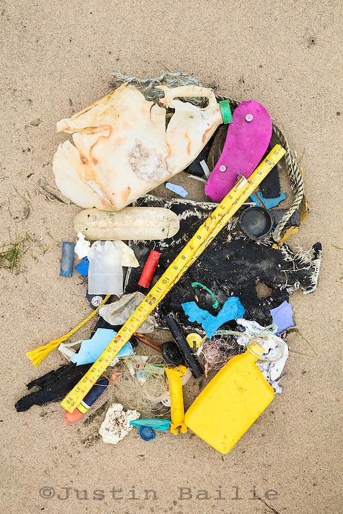 Various garbage gathered on Oregon beaches.