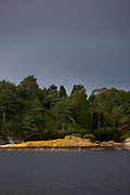 Grey clouds above the subtropical gardens of Garinish Island, Glengarriff, West Cork, Ireland