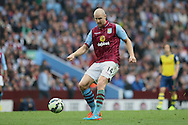 Philippe Senderos of Aston Villa in action. Barclays Premier league match, Aston Villa v Arsenal at Villa Park in Birmingham on Saturday 20th Sept 2014<br /> pic by Mark Hawkins, Andrew Orchard sports photography.