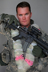 Captain Joshua Zaruba, 27. Cedar Rapids, Iowa. Soldiers from Alpha Battery 3-321 Field Artillery in Afghanistan's eastern Khost Province at the Terezayi District Center near the Afghan-Pakistan border on Friday Oct. 17, 2008.