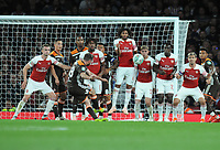 Football - 2018 / 2019 EFL Carabao Cup (League Cup) - Third Round: Arsenal vs. Brentford<br /> <br /> Alan Judge of Brentford scores his goal over the Arsenal wall from a free kick, at The Emirates.<br /> <br /> COLORSPORT/ANDREW COWIE
