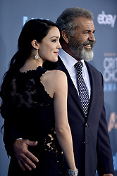 Rosalind Ross, Mel Gibson attend the 22nd Annual Critics' Choice Awards at Barker Hangar on December 11, 2016 in Santa Monica, Los Angeles, CA, USA. Photo By Lionel Hahn/ABACAPRESS.COM