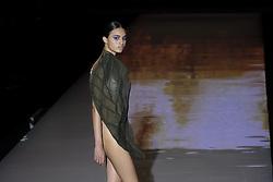 September 16, 2016 - Madrid, Spain - A models walks during Andres Sarda Fashion Show at Madrid Fashion Week Spring/Summer 2017/18 at Ifema, on September 16, 2016, in Madrid, Spain. (Credit Image: © Oscar Gonzalez/NurPhoto via ZUMA Press)