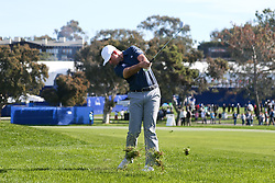 January 27, 2018 - San Diego, California, United States - Luke List hits out of the rough on the first hole during the third round of the 2018 Farmers Insurance Open at Torrey Pines GC. (Credit Image: © Debby Wong via ZUMA Wire)