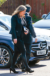 © Licensed to London News Pictures. 12/06/2015. Fort William, UK. Ex-wife Sarah Gurling attending the funeral of ex-Liberal Democrat leader Charles Kennedy at St John's Church in Caol, near his Fort William home in Scotland on Friday, June 12, 2015. Mr Kennedy died suddenly on June 1, 2015 at the age of 55 after suffering a major haemorrhage as a result of a long battle with alcoholism. Photo credit: Tolga Akmen/LNP