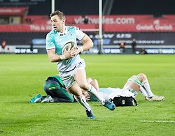 Connacht's Craig Ronaldson scores his sides first try<br /> <br /> Photographer Simon King/Replay Images<br /> <br /> Guinness PRO14 Round 19 - Ospreys v Connacht - Friday 6th April 2018 - Liberty Stadium - Swansea<br /> <br /> World Copyright © Replay Images . All rights reserved. info@replayimages.co.uk - http://replayimages.co.uk