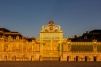 Chateau de Versailles Gate - Chateau de Versailles is laid out over 800 hectares with large sprawling gardens and fountains. Most of the gardens were designed by Andre Le Notre, and are as breathtaking as the Palace itself. High on symmetry, adorned by massive number of sculptures, groves and fountains, these gardens represent royal French aesthetics and power at the time of the Sun King.