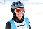 Monika Fasnacht, Teilnehmerin beim Renzo's Schneeplausch vom 23. Januar 2016 in Vella, Gemeinde Lumnezia.