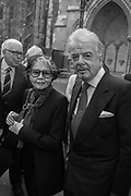 LESLIE CARON,; NICKY HASLAM, Service of thanksgiving for  Lord Snowdon, St. Margaret's Westminster. London. 7 April 2017
