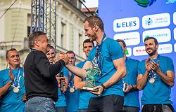 Zoran Jankovic and Tine Urnavt during the Day for the medals: Reception of Slovenian sport heroes on 30.9.2019 on Kongresni square, Ljubljana, Slovenia. Photo by Urban Meglič / Sportida