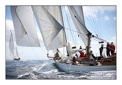Day five of the Fife Regatta, Race from Portavadie on Loch Fyne to Largs. <br /> <br /> <br /> Astor, Richard Straman, USA, Schooner, Wm Fife 3rd, 1923 and Latifa, 8, Mario Pirri, ITA, Bermudan Yawl, Wm Fife 3rd, 1936<br /> <br /> * The William Fife designed Yachts return to the birthplace of these historic yachts, the Scotland's pre-eminent yacht designer and builder for the 4th Fife Regatta on the Clyde 28th June–5th July 2013<br /> <br /> More information is available on the website: www.fiferegatta.com